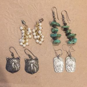 Jewelry - Earrings! Petite pearl Turquoise PNW Raven Jag🐆